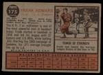 1962 Topps #175 GRN Frank Howard  Back Thumbnail