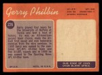 1970 Topps #226   Gerry Philbin Back Thumbnail