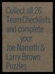 1973 Topps Football Team Checklists #2  Baltimore Colts  Back Thumbnail