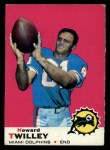 1969 Topps #28   Howard Twilley Front Thumbnail
