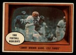 1961 Topps #77   -  Jim Brown 1960 Football Highlights Front Thumbnail