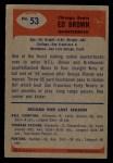 1955 Bowman #53   Ed Brown Back Thumbnail