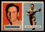 1957 Topps #137   Lynn Chandnois Front Thumbnail