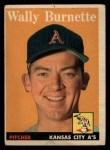 1958 Topps #69   Wally Burnette Front Thumbnail