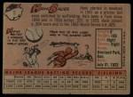1958 Topps #9  Hank Bauer  Back Thumbnail