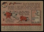1958 Topps #280   Jimmy Piersall Back Thumbnail