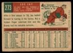 1959 Topps #273  Joey Jay  Back Thumbnail