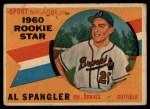 1960 Topps #143  Rookie Stars  -  Al Spangler Front Thumbnail