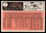 1966 #31  Jack Cullen  Back Thumbnail