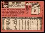 1969 Topps #83   Mike Ferraro Back Thumbnail