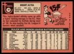 1969 Topps #48   Brant Alyea Back Thumbnail