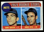 1969 Topps #31  Mets Rookies  -  Gary Gentry / Amos Otis Front Thumbnail