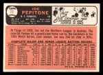 1966 Topps #79   Joe Pepitone Back Thumbnail