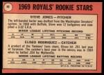1969 Topps #49 ERR  -  Steve Jones / Eliseo Rodriquez Royals Rookies Back Thumbnail