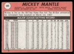 1969 Topps #500 YN  Mickey Mantle Back Thumbnail