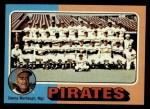 1975 Topps #304  Pirates Team Checklist  -  Danny Murtaugh Front Thumbnail