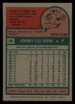 1975 Topps #69  Blue Moon Odom  Back Thumbnail