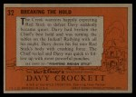 1956 Topps Davy Crockett #32 ORG Breaking the Hold   Back Thumbnail