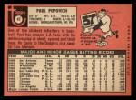 1969 Topps #47 B Paul Popovich   Back Thumbnail
