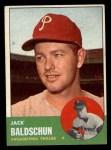1963 Topps #341 *ERR* Jack Baldschun  Front Thumbnail