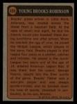 1972 Topps #498  Boyhood Photo  -  Brooks Robinson Back Thumbnail