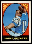 1967 Topps #123  Lance Alworth  Front Thumbnail