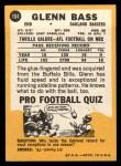 1967 Topps #104   Glenn Bass Back Thumbnail