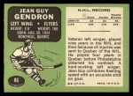1970 Topps #86   Jean Guy Gendron Back Thumbnail