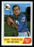 1968 Topps #161  Fran Tarkenton  Front Thumbnail