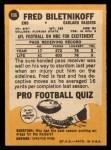 1967 Topps #106   Fred Biletnikoff Back Thumbnail