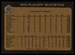 1973 Topps #202  1972 NL Playoffs - Foster's Run Decides It  -  George Foster / Pete Rose / Alex Grammas Back Thumbnail