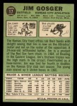 1967 Topps #17   Jim Gosger Back Thumbnail