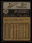 1973 Topps #370  Willie Stargell  Back Thumbnail