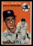 1954 Topps #13  Billy Martin  Front Thumbnail