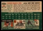 1954 Topps #37  Whitey Ford  Back Thumbnail
