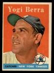 1958 Topps #370   Yogi Berra Front Thumbnail