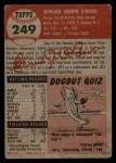 1953 Topps #249  Ed O'Brien  Back Thumbnail