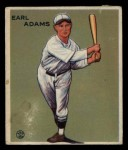 1933 Goudey #213  Earl Adams  Front Thumbnail
