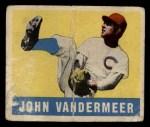 1949 Leaf #53  Johnny Vander Meer  Front Thumbnail