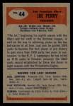 1955 Bowman #44  Joe Perry  Back Thumbnail