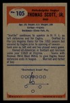 1955 Bowman #105   Tom Scott Back Thumbnail