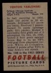 1951 Bowman #138   Ventan Yablonski Back Thumbnail