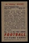 1951 Bowman #11   Al Wistert Back Thumbnail