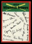 1974 Topps Red Team Checklists #13  Brewers Team Checklist  Front Thumbnail