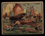 1938 Gum Inc. Horrors of War #50   Japanese Bomb Chinese Troops in Junks Front Thumbnail