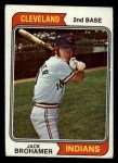 1974 Topps #586   Jack Brohamer Front Thumbnail