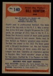 1955 Bowman #140  Bill Howton  Back Thumbnail