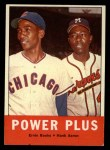 1963 Topps #242  Power Plus   -  Ernie Banks / Hank Aaron Front Thumbnail