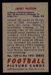1951 Bowman #129  Jerry Nuzum  Back Thumbnail