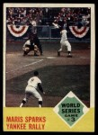 1963 Topps #144  1962 World Series - Game #3 - Maris Sparks Yankee Rally  -  Roger Maris / Elston Howard / Ed Bailey Front Thumbnail